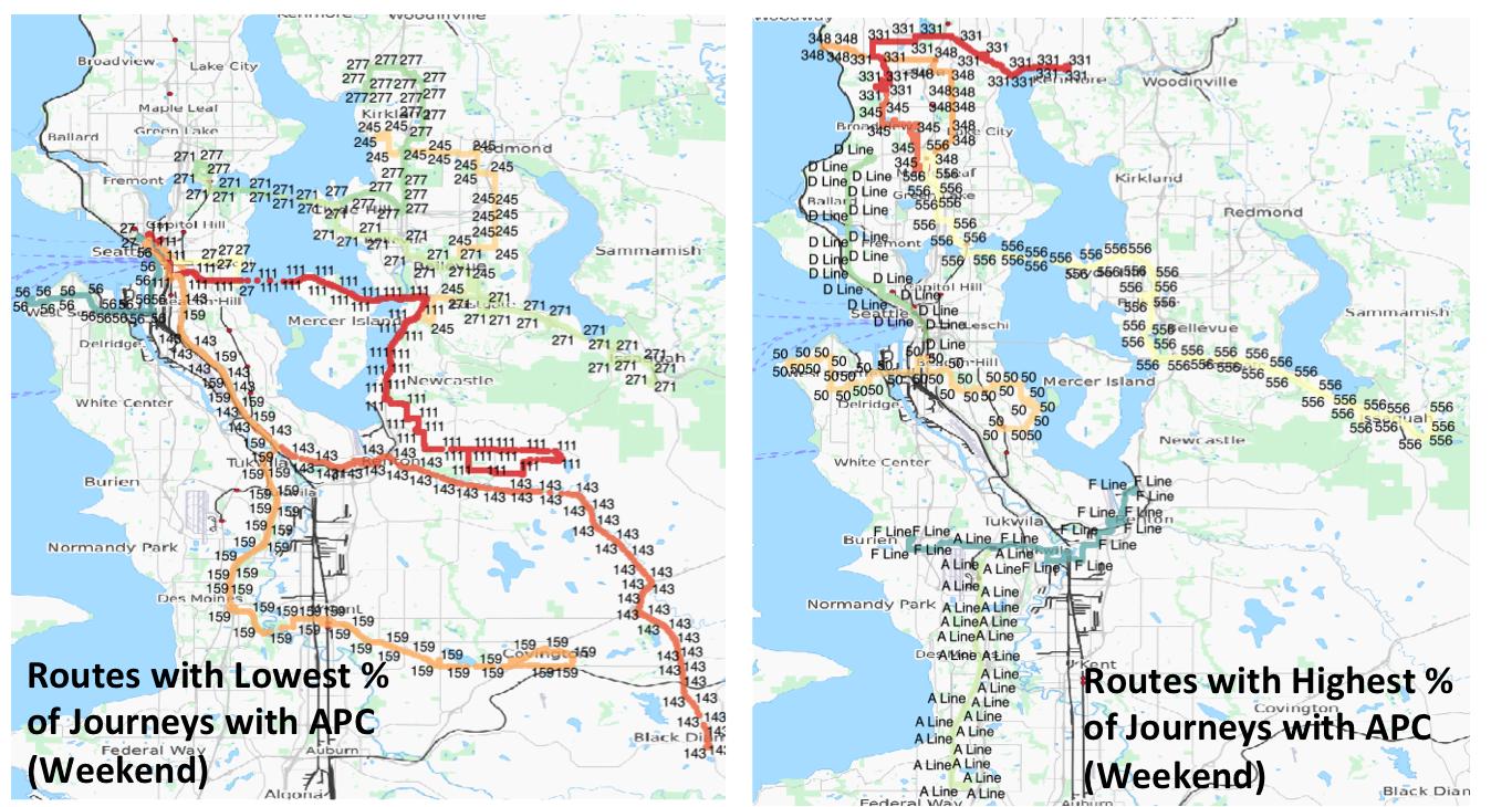Bias #2 APC vs. Ridership_Weekend